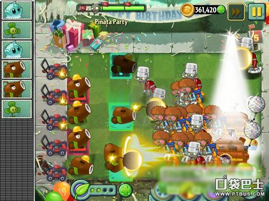 《植物大战僵尸2》5月26日生日派对攻略 椰子大炮