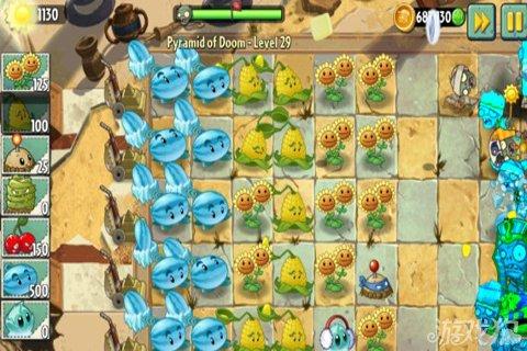 《植物大战僵尸2》冰瓜玉米阵埃及无尽模式阵型介绍