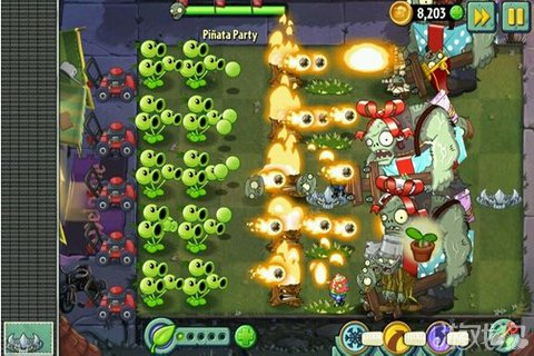 《植物大战僵尸2》疯狂射击来抵制僵尸的侵袭