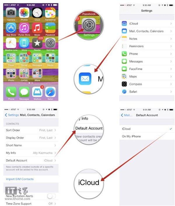 苹果IOS7.1手机通讯录无法显示新添联系人的解决方法