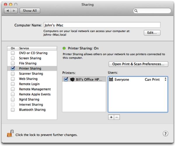 Mac电脑怎么共享打印机