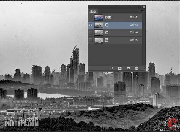 Photoshop把雾霾城市图片转为高清风景大片