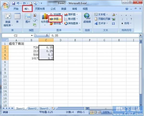 Excel如何制作饼图