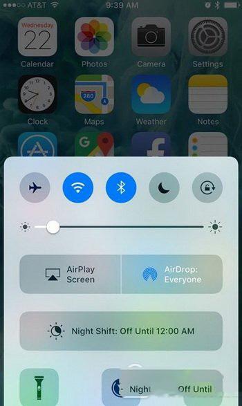 苹果ios10控制中心有哪些功能