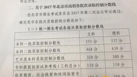 2017多少分数可以上清华北大?附分数线